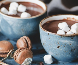 chocolate, winter, and marshmallow image
