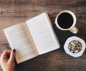 beauty, book, and coffee image