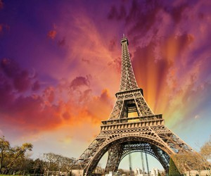 paris, colorful, and eiffel tower image