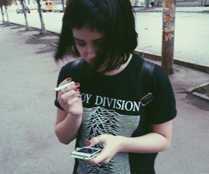 girl, grunge, and joy division image