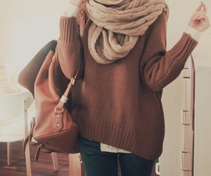 bag, brown, and casual image