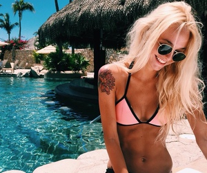blonde, paradise, and summer vibes image