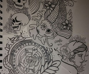 art, Tattoos, and time image