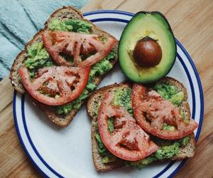 food, avocado, and tomato image