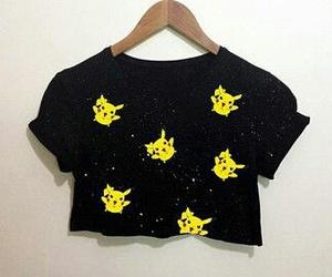 black, pikachu, and pokemon image