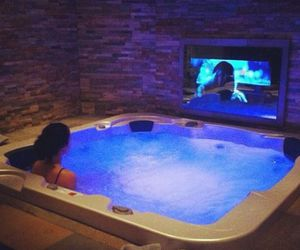 luxury, tv, and jacuzzi image