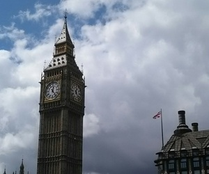 clock, london, and monument image