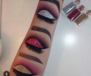 makeup, art, and glitter image