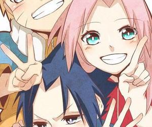 naruto, sakura, and team 7 image