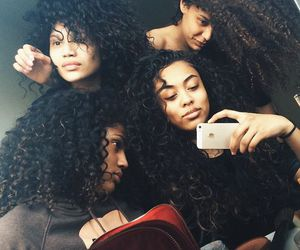 curly, hair, and curly hair image