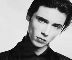 black and white, andy biersack, and black veil brides image
