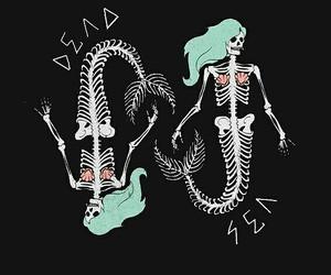 mermaid, skeleton, and art image