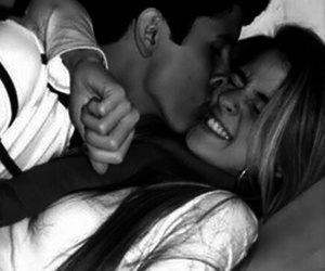 black and white, hug, and smile image