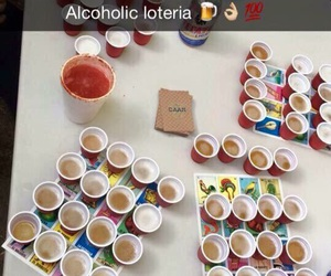 alcohol, beer, and loteria image