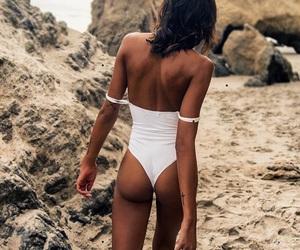 girl, beach, and bikini image