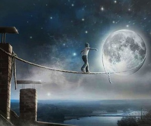 moon, Dream, and night image
