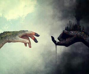 art, dark, and nature image