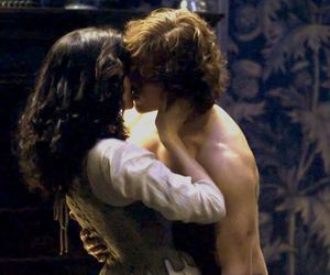 outlander, caitriona balfe, and jamie fraser image