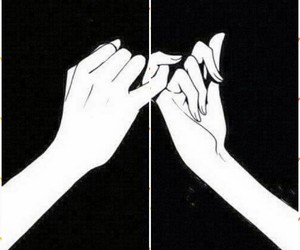 promise, hands, and black image