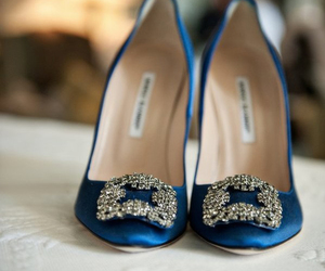 shoes, blue, and manolo blahnik image