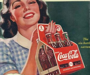 vintage, coca cola, and coke image