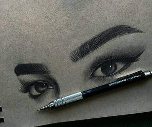 black and white, love lovely cute cuteness, and brows image