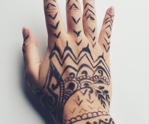 henna, rihanna, and tattoo image