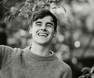 connor franta, black and white, and youtube image