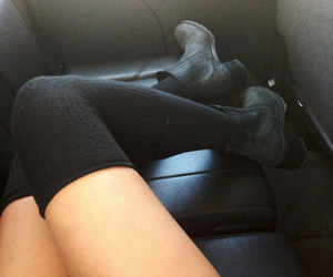 combat boots, girl, and socks image