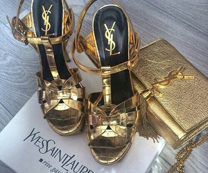 shoes, YSL, and gold image