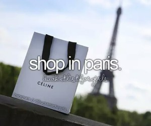 paris, shopping, and bucket list image