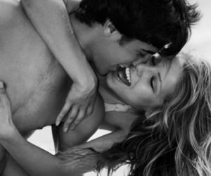 black and white, blackandwhite, and kiss image