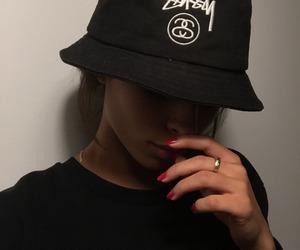girl, black, and stussy image