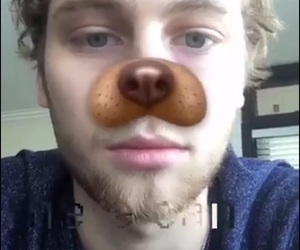 luke hemmings, 5 seconds of summer, and snapchat image