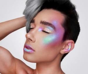 makeup, rainbow, and boy image