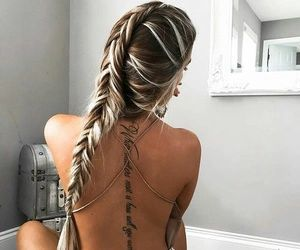 fashion, hair, and letters image