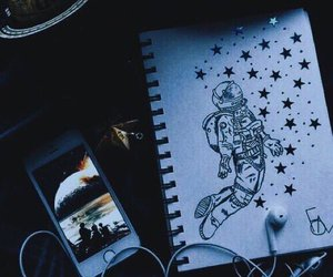 drawing, space, and tumblr image