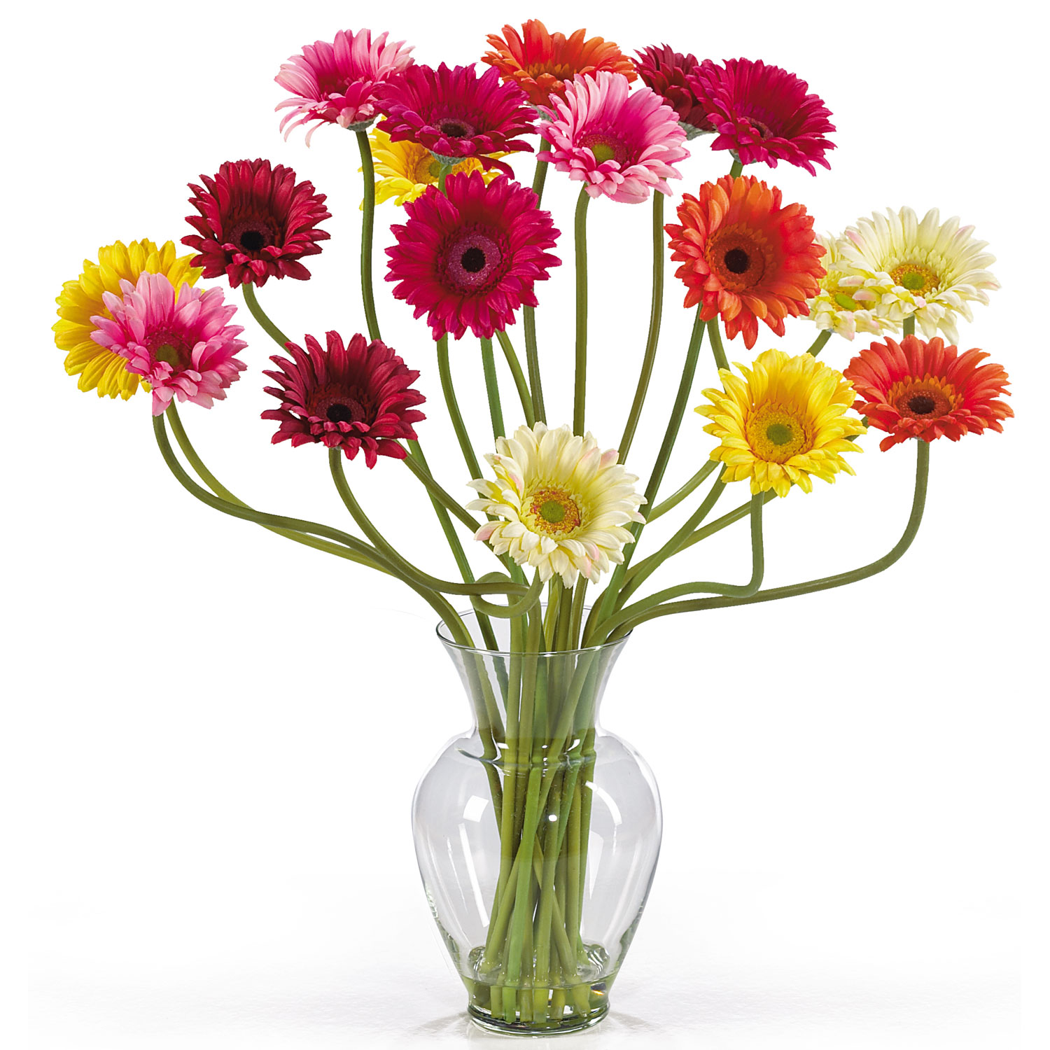 Gerbera daisy silk flower arrangement beautiful flowers izmirmasajfo