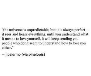 quotes, love yourself first, and the universe image