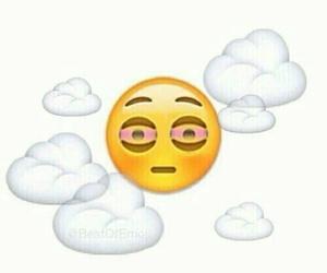 emoji, high, and weed image
