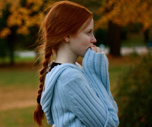 girl, beautiful, and red hair image