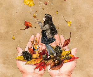 autumn, diary, and girl image