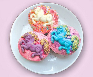 unicorn, cupcake, and colorful image