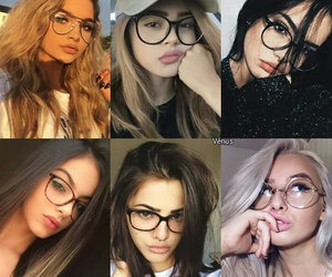 beautiful, girls, and glasses image