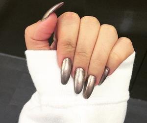 acrylics, gold, and nails image