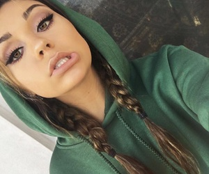 girl, andrea russett, and makeup image
