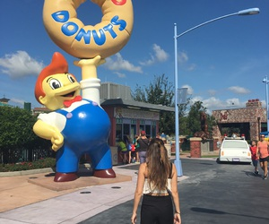 disney, donut, and girl image