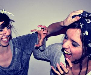 friend, girl, and laugh image