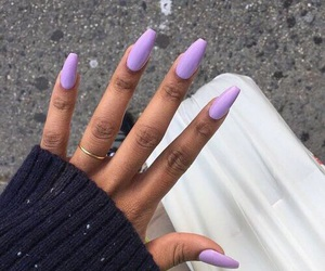 nails, purple, and girl image