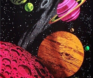 space, grunge, and planet image